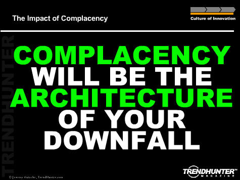 Complacency poster