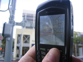 Navigating Rodeo Drive on my cell phone
