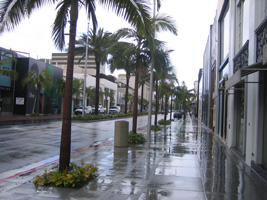 no shoppers on Rodeo drive