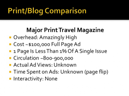 The business case for blogtrips in two simple slides